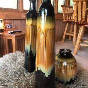 3 piece decor vases